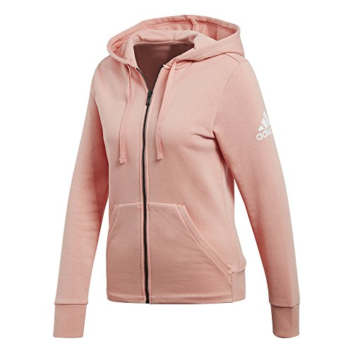 adidas Damen Essentials Solid Full Zip Hoodie, Trapnk, 2XS