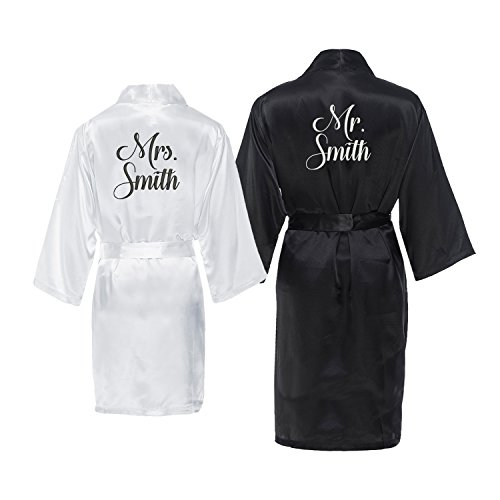 Mr. and Mrs. Personalized Robe Set with New Last Name