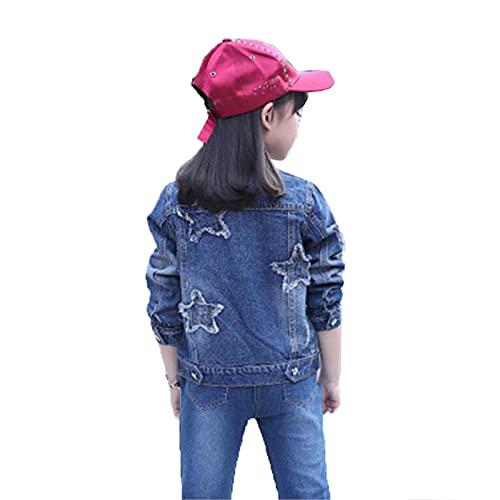 Chicas Grandes Denim Chaqueta Cardigan Abrigo Niños Outwear Mariposa Bordado Lentejuelas Niños Ropa Primavera