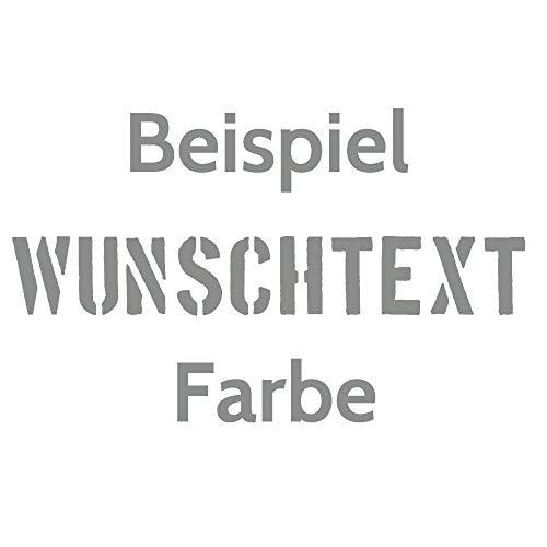 Aufkleber Autoaufkleber Name Wunschname Sticker Wunschtext - individuell ! (074 mittelgrau)