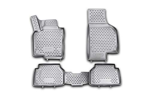 Element EXP.NLC.3D.51.21.210kh 3D Passgenaue Premium Antirutsch Gummimatten Fußmatten VW Tiguan Mk1 5N 10/2007-2016, Schwarz, Passform