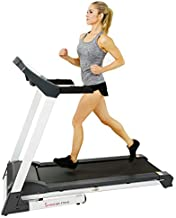 Sunny Health & Fitness SF-T7515 Smart Treadmill with Auto Incline, Speakers, Bluetooth, LCD and Pulse Monitor, Phone Function, 240 LB Max Weight , grey