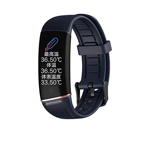 ADH Reloj Inteligente para Hombres para Mujer, Monitor De Frecuencia Cardíaca De La Presión Arterial Android Smart Watch iOS Smart Fitness Pulsera Reloj,D