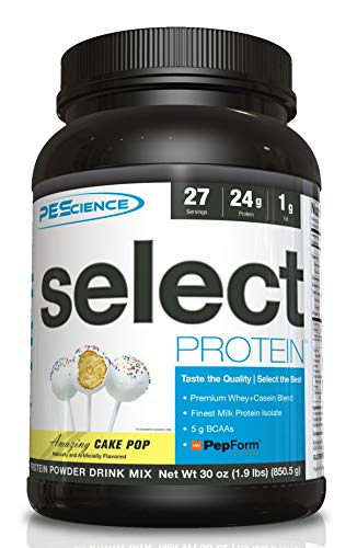 PEScience Select Protein Powder, Cake Pop, 27 Serving, Whey and Casein Blend