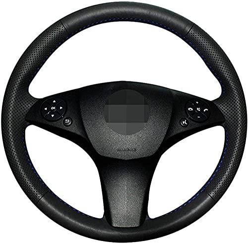 Funda para volante de coche de piel cosida a mano, para Mercedes...