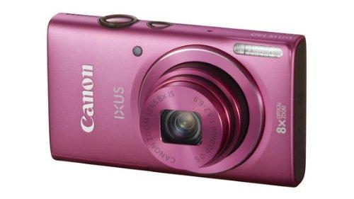 Canon IXUS 140 Digitalkamera (16 MP, 8-Fach Opt. Zoom, 7,6cm (3 Zoll) Display, bildstabilisiert, DIGIC 4 mit iSAPS) pink