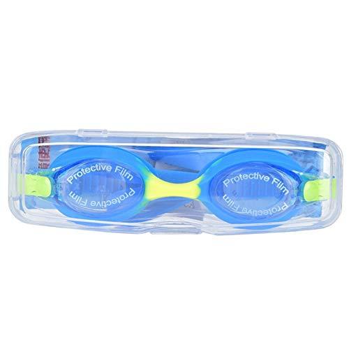Fybida Gafas de natación Niños Gafas de natación Dibujos Animados para niños y niñas(J06 Automatic Buckle Blue Yellow, Love Type)