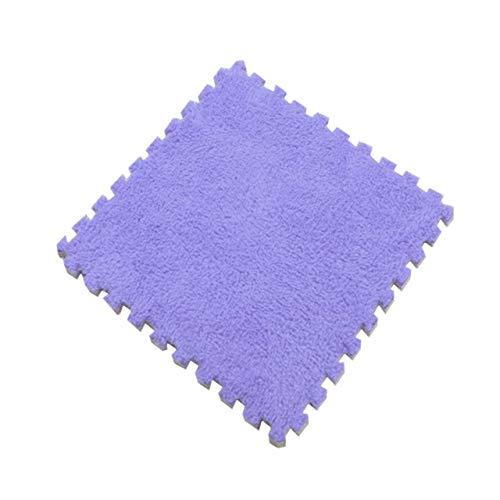 ADSIKOOJF Multi kleuren 30 * 30cm Tapijt Woonkamer Slaapkamer Kinderen Zachte Tapijt Magic Patchwork Jigsaw Splice Hoofden Klimmen Baby Mat