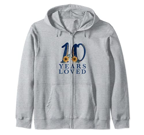 10 Years Old | 10th Birthday Party | 10 Years Loved Zip Hoodie
