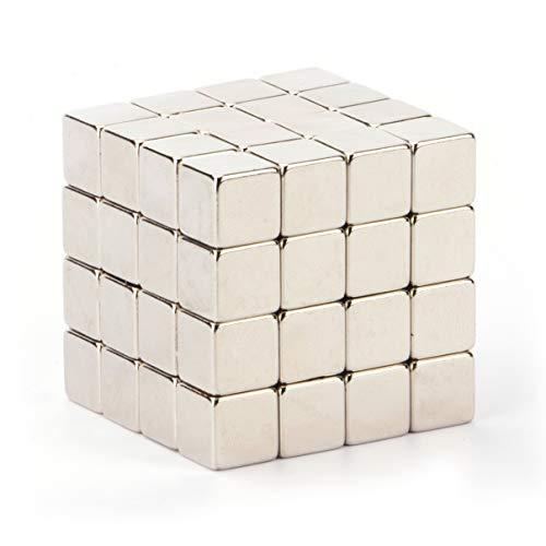 Marwotec Verbindungselemente Neodym-Super-Magnete Würfel 4 x 4 x 4 mm [50 Stücke] Sehr Starke Magnete für, Magnettafel, Whiteboard, Tafel, Pinnwand, Kühlschrank, und vieles mehr