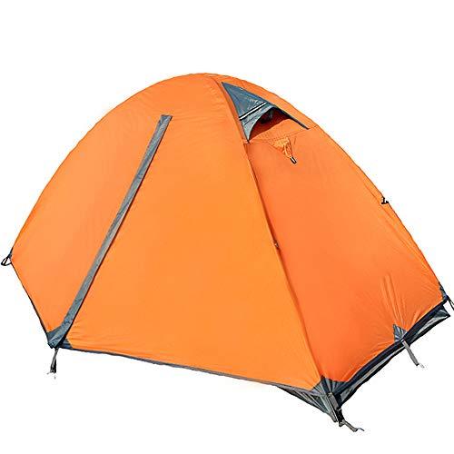 YANKK Camping Tente 1 et 2 Personnes Ultra Légère Facile à Installer Tentes Dôme Double Couche Tente, Ventilée pour Trekking, Randonnée, Camping, Festival