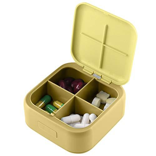 HSYTEK - Pastillero de bolsillo mini – Organizador y planificador