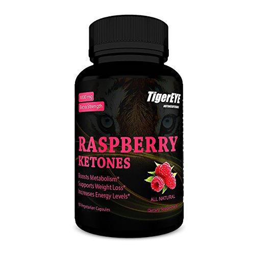 100% Pure Raspberry Ketones Extract New Extra Strength, Energy Booster, All Natural, 60 Vegetarian Capsules (60 Count-1 Pack)