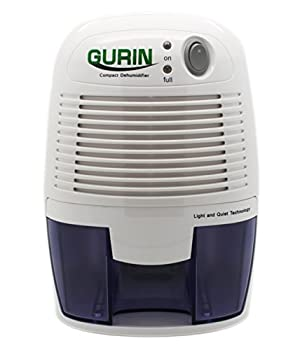 Gurin Thermo Electric Mini Dehumidifier 1100 Cubic Feet Peltier Technology Dehumidifier Compact and Portable for High Humidity in Home Kitchen Bedroom Basement Caravan Office Garage