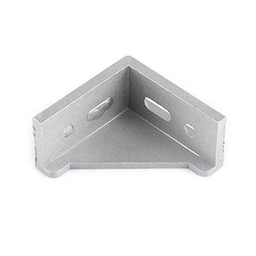 5 Stück Aluminiumlegierung L-förmige Eckhalterung 58x58mm Eckhalterung Rechteckige Halterung Montage rechtwinklige Türverbindungen, Fenster,