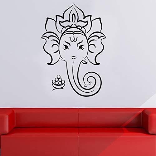 Tianpengyuanshuai Hindu Gott Wandaufkleber Hauptdekoration Wandkunst Wandbild abnehmbare Vinyl Wandtattoo Wohnzimmer Schlafzimmer Dekoration91X64cm