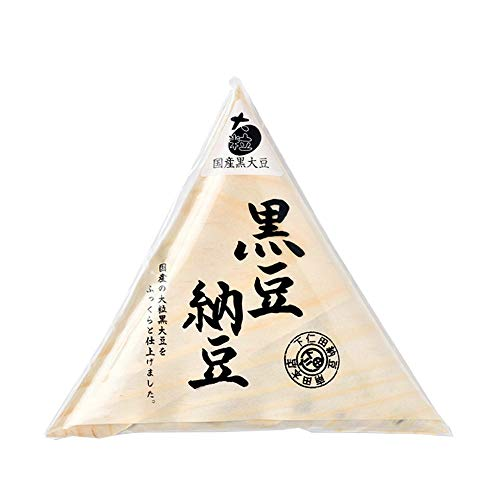 黒豆納豆 80g×8 下仁田納豆 国産黒豆大粒大豆100%使用 炭火発酵