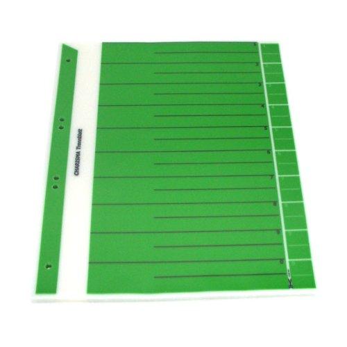 Office Line Charisma Trennblätter, grün, aus 150 mµ transparente Spezialfolie, 6-fach gelocht, Format: 30,0 x 24,0 cm, 50 Stück, Art.Nr.: 770241