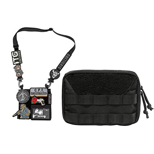 OneTigris Patches Showcase ID Holder Badge with Shoulder Strap & MOLLE Admin Pouch 14