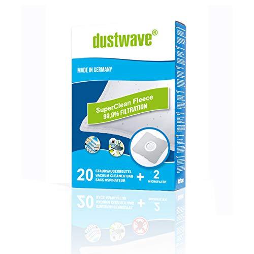 20 dustwave® Staubsaugerbeutel für Samsung SC1200 Eco Wave, Samsung SC1400 Eco Wave, Samsung VP 77, Samsung SC 1400.05 Eco Wave, Samsung VC 5956 V Easy…