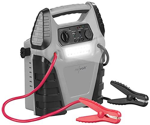REVOLT Kfz Starthilfe: 5in1-Starthilfe-Powerbank, Kompressor, USB, 12V, 20 Ah, 1000A, 150 psi (Powerbank Auto-Starthilfe)