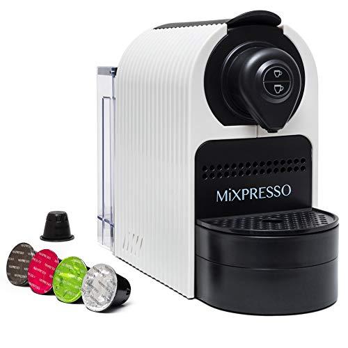 Mixpresso Espresso Machine for Nespresso Compatible Capsule, Single Serve Coffee Maker Programmable Buttons for Espresso Pods, Premium Italian 19 Bar High Pressure Pump 27oz 1400W (White)