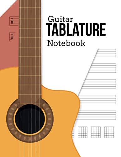 Guitar Tablature Notebook: 100 Pages: Blank Guitar Tabs 100 Page For Composing Your Music
