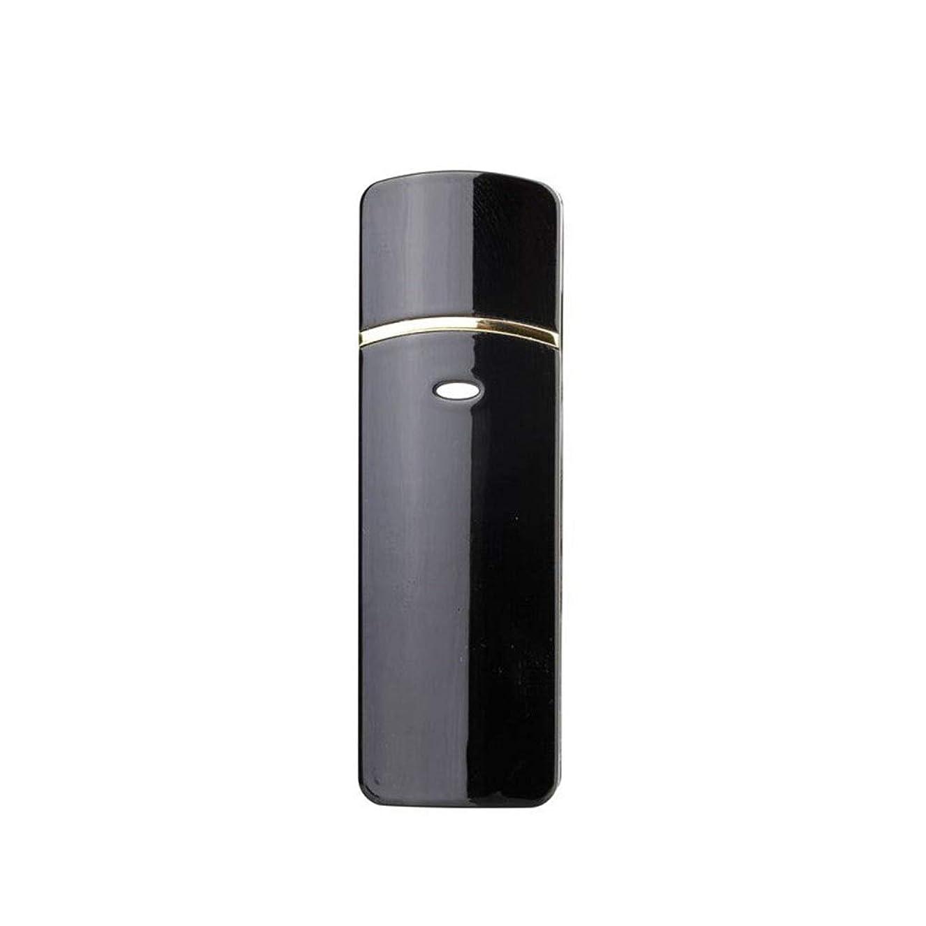 連合飢えた民間顔のスプレーヤー加湿器美容保湿ミニ顔ミスト霧化まつげエクステンションUSB充電式コールドスプレー (Color : Black)