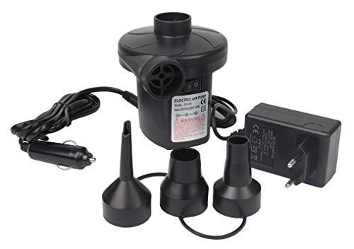 Benson Elektrische luchtpomp, stopcontact, 230 V of 12 V, auto-aansluiting, met 3 adapters, pomp camping