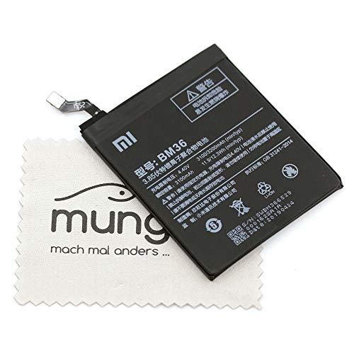 Batería para Xiaomi Original BM36 para Xiaomi MI 5 S con paño mungoo