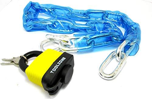 1m PVC overdekte ketting met hangslot voor fiets, motorfiets beveiliging LK071