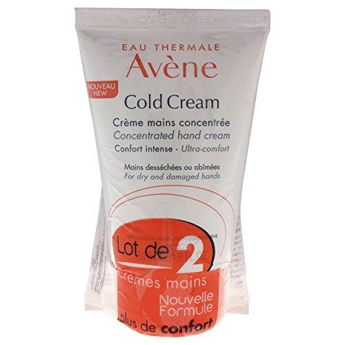 Avène Crème Mains, Handcreme mit Cold Cream, Packung zu 2 x 50 ml