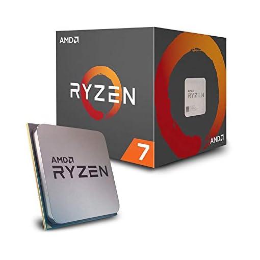 AMD Ryzen 7 2700 - Procesador con disipador de calor Wraith Spire LED (20 MB, 8 núcleos, velocidad de 4.10 GhZ, 65 W) 1