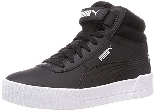 PUMA Carina Mid, Zapatillas para Mujer, Negro Black Black White, 38.5 EU