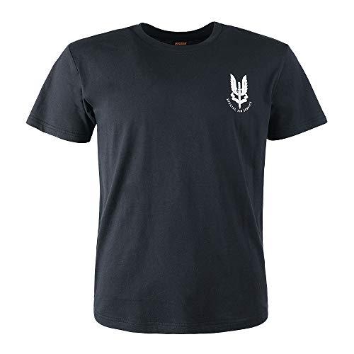 EXCELLENT ELITE SPANKER Männer Casual T-Shirt Vereinigtes Königreich Armee SAS UK Special Air Service Ops T-Shirt(Schwarz-M)