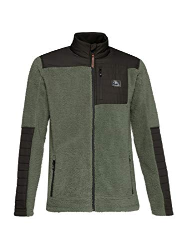 Protest Herren Fleece ADAM mit Kinnschutz Green Spray L