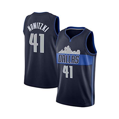 Basketball Trikot für Dirk Nowitzki # 41 Fans Anzug Kinder Erwachsene schwarz lila Sportbekleidung T-Shirt Weste-2-XXL