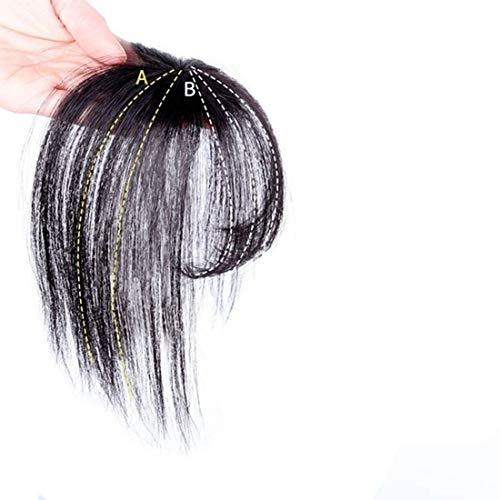 Echthaar Fringe Bangs One Piece Haarteil In Front Hair Extension Verlängerung natürliche glatt, Air Pony Hair Clip Haar Extension mit Seite Tempel Clip In Extensions Echthaar für Frauen