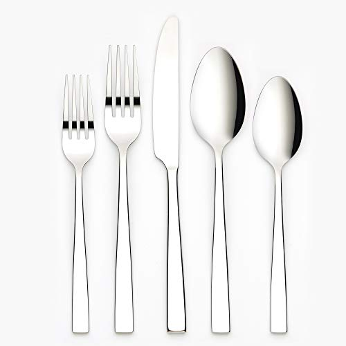 Ornative Kathryn 20-Piece Stainless Steel Flatware Set| Silverware Set for 4| Silver | Includes Forks, Knives, and Spoons |Dishwasher Safe |Durable and Easy Care| Best Silverware