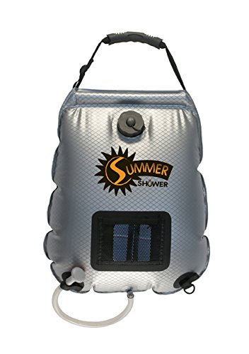 Advanced Elements 5 Gallon Summer Shower / Solar Shower,Silver/Black