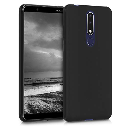 kwmobile Nokia 3.1 Plus (2018) Cover - Custodia per Nokia 3.1 Plus (2018) in Silicone TPU - Backcover Protezione Nero Matt