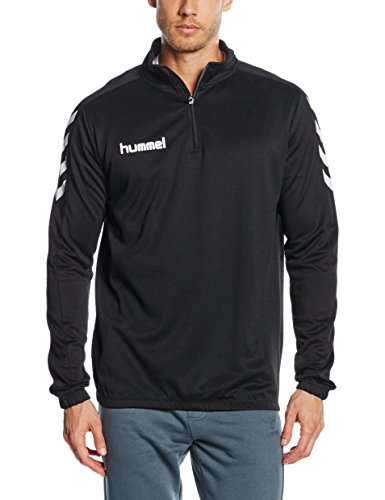 Hummel Herren Core 1/2 Zip Sweatshirt, Schwarz, M EU