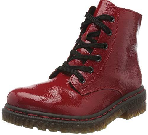 Rieker Damen 76240 Mode-Stiefel, rot, 40 EU