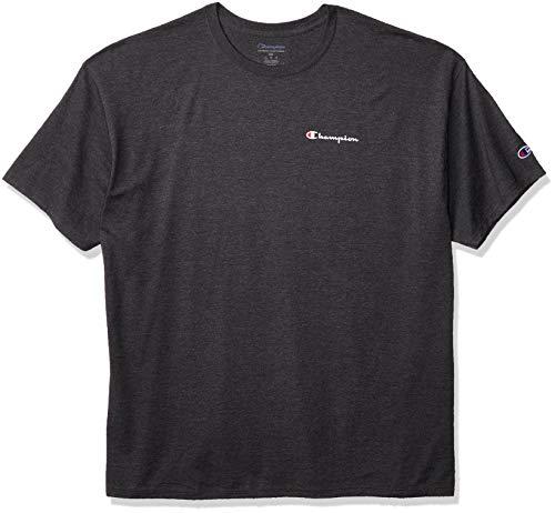 Champion Classic tee Camiseta, Granite Heather Left Chest Script, L para Hombre