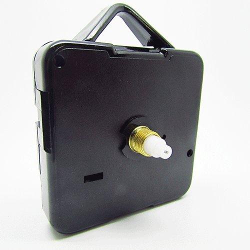 Sweep-Quartz-Uhrwerk, sehr leise, Selbstmontage, inkl. Beschläge, mechanischer Motor, 5er Pack, verschiedene Größen erhältlich, plastik, Schwarz , Short - Gold Thread 5mm - 13mm Total