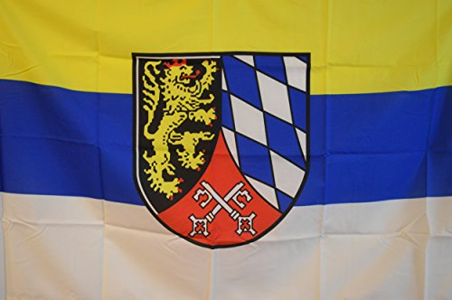 SCAMODA Bundes- und Länderflagge aus wetterfestem Material mit Metallösen (Oberpfalz) 150x90cm