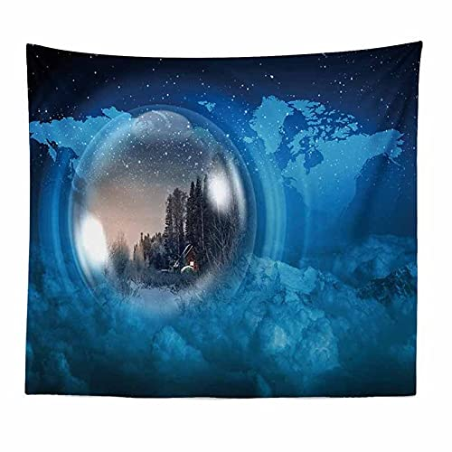 Tapiz espacial de montaje en pared Luna Hippie tapiz de tela de pared de encaje tapiz tapiz de sueño manta tela colgante A3 180x230cm