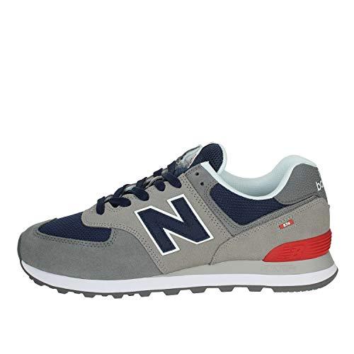 New Balance 574v2, Sneaker Uomo, Grigio (Grey/Navy Ead), 42 EU