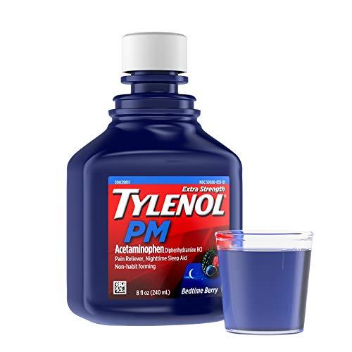 Tylenol PM Extra Strength Liquid Diphenhydramine HCI/Acetaminophen Sleep Aid/Pain Reliever 8 fl oz