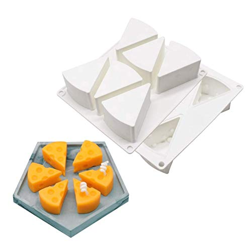 AKAMAS Käse-Silikon-Kuchenform, Seife, Eis, Backen, Gebäck, Dessertring, Kunst, Mousse, Mini-Brotform, 3D-Form